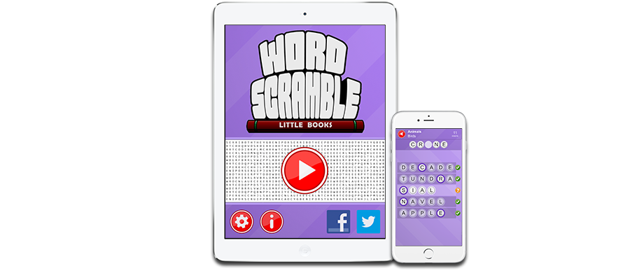Word Scramble Little Books on iPad, iPhone, and Android